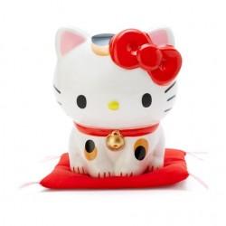 日本 Sanrio hello kitty 招財貓 陶瓷錢箱