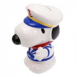 日本 Peanuts Charlie Brown & Snoopy 水手造型 陶瓷貯金箱