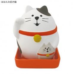 日本 CONCOMBRE 陶瓷 加濕器 開運 招財貓