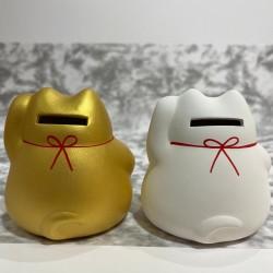 日本陶瓷招財貓錢箱